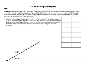 Side-Side-Angle Ambiguity Exploration