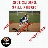 PE Rubric - Side Sliding Skill Assessment Rubric!