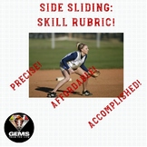 PE Rubric - Side Sliding Skill Assessment Rubric!