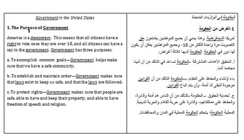 Side-by-side English & Arabic Government notes