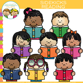 Sidekicks Reading Clip Art