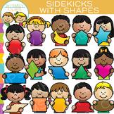 Sidekicks Math Kids with 2D Shapes Clip Art