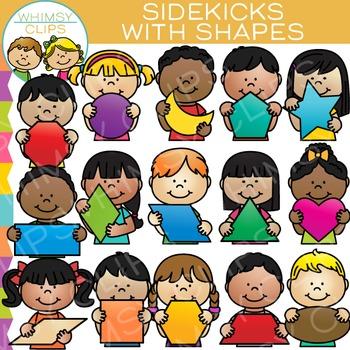 Sidekicks with 2D Shapes Clip Art