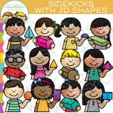 Sidekicks with 3D Shapes Clip Art