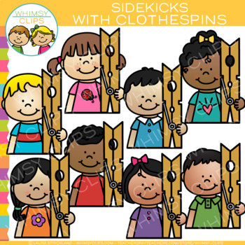 Sidekicks with Clothespins Clip Art