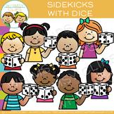 Sidekicks Math Kids with Dice Clip Art
