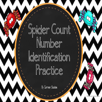 Spider Counting Practice Numbers 1-20
