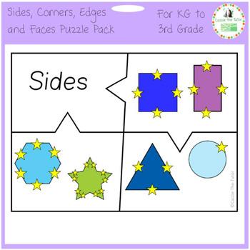 Sides, Corners, Edges & Faces Free Puzzle Pack