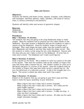 Sides and Corners Geometric Lesson Plan