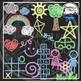 Kids Sidewalk Chalk Clipart Bundle