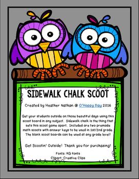 Sidewalk Chalk Scoot
