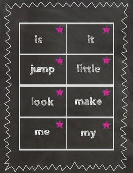 Sidewalk Chalk Sight Word Cards