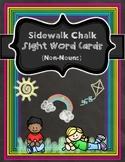 Sidewalk Chalk Sight Word Cards (WHITE)