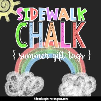 Sidewalk Chalk Tags Free | End of Year Gift Tags