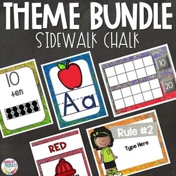 Sidewalk Chalk | Classroom Theme Decor Bundle