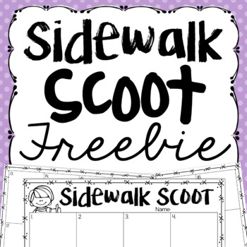 Sidewalk Scoot {a Freebie for Playing Scoot Outdoors}