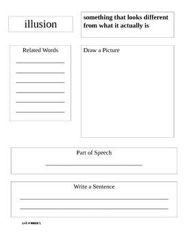 Sidewalks D Student Vocabulary Notebook Unit 4