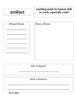 Sidewalks D Student Vocabulary Notebook Unit 5