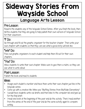 Sideway Stories from Wayside School Activity