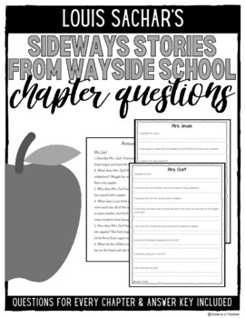 Sideways Stories From Wayside School Chapter Questions