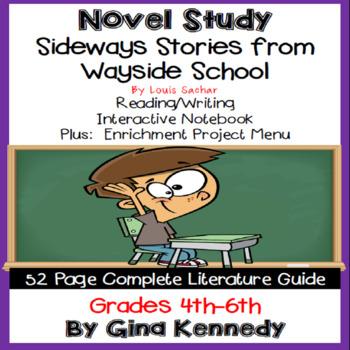 Sideways Stories From Wayside School Novel Study + Enrichment Project Menu