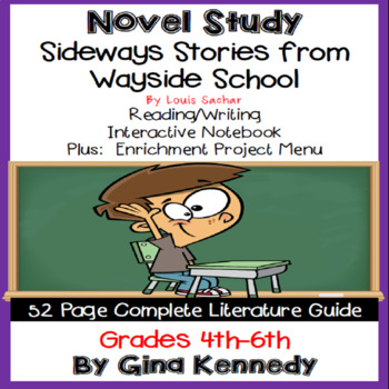 Sideways Stories From Wayside School Novel Study + Enrichment Project Menu