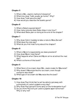 Sideways Stories from Wayside School Discussion Questions