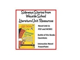 """Sideways Stories from Wayside School"", Huge Unit of Resources on CD!"