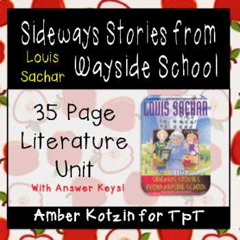 Sideways Stories from Wayside School Literature Guide (Common Core Aligned)