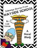 Sideways Stories from Wayside School Novel Study by Louis Sachar