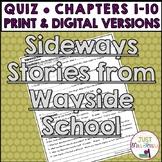 Sideways Stories from Wayside School Quiz 1 (Ch. 1-10)