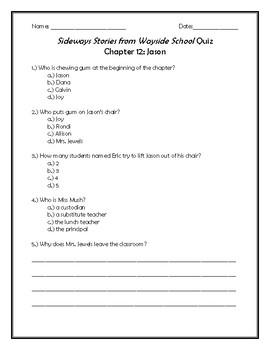 Sideways Stories from Wayside School Quiz Chapter 12: Jason