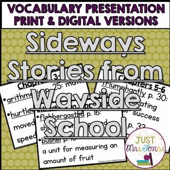 Sideways Stories from Wayside School Vocabulary Presentation