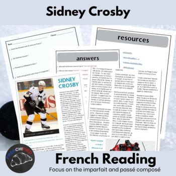 Sidney Crosby - reading activity packet - passé composé vs. imparfait
