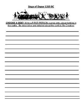 Siege of Dapur Creative Writing Assignment