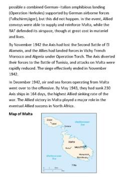 Siege of Malta (World War II) Handout