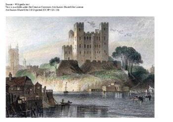 Siege of Rochester Castle Comic Strip and Storyboard