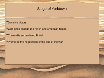 Siege of Yorktown PowerPoint