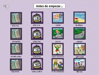 Siempre ocupada -Spanish Musical Echoing Slide Show for Comprehensible Input