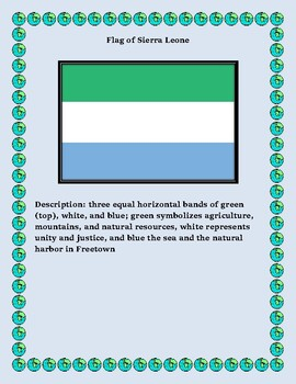Sierra Leone Geography, Flag, Data, Maps Assessment Map Skills and Data Analysis