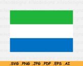 Sierra Leone. National Flag, Country Banner Cricut Print, SVG EPS AI PNG JPG PDF