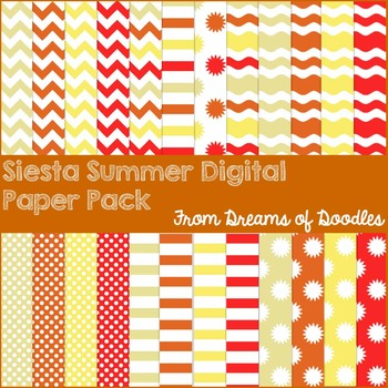 Siesta Summer Digital Paper Pack