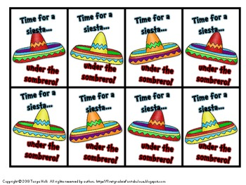 Siesta Under the Sombrero Craft and Nonsense Word Game {Cinco de Mayo}