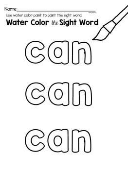 Sight Word {can} Activities
