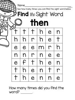 Sight Word {then} Activities