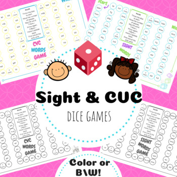 Sight & CVC Words Dice Games