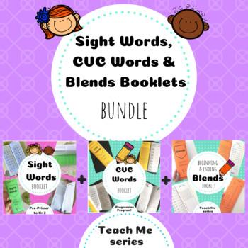 Sight, CVC Words and Blends Bundle