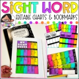 Sight Chart and Bookmark | Pre-Made + Editable Version