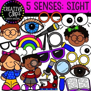 Sight: Five Senses Clipart {Creative Clips Clipart}