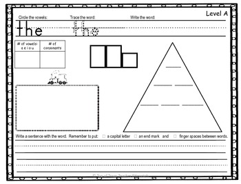 Sight & High Frequency Words by Guided ReadingLevel: Work Station/Homework Pract
